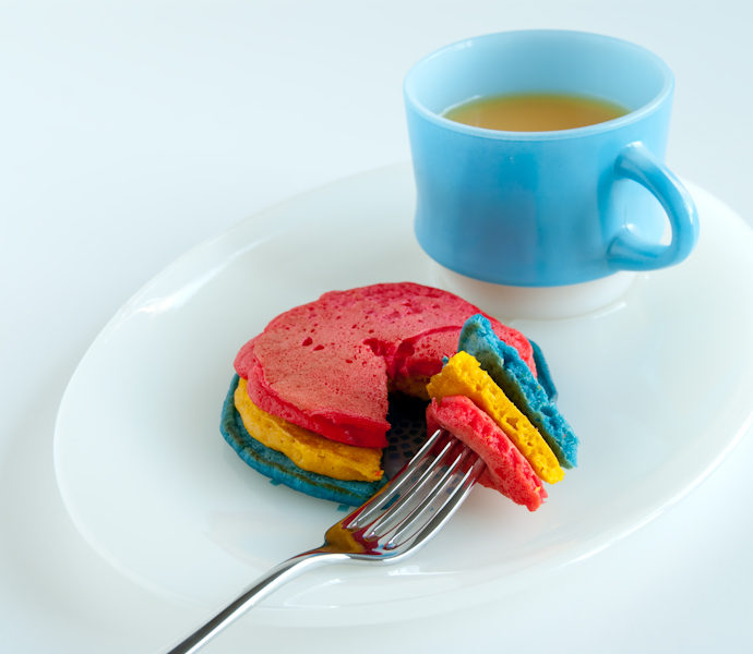 Technicolor Pancakes!