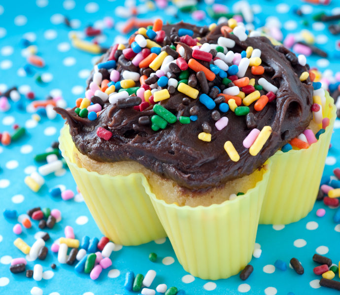 Mostly-from-Scratch Cupcakes