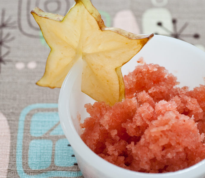 So Where Are You From? – Caribbean Carambola-Strawberry Sorbet (or Granita)