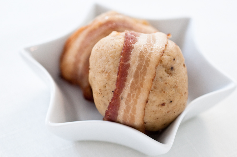 Bacon-wrapped Matzo Balls. No...seriously.