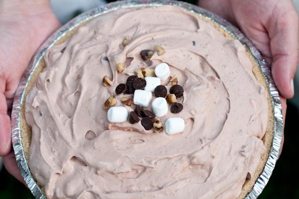 Rocky Road Frozen Pie