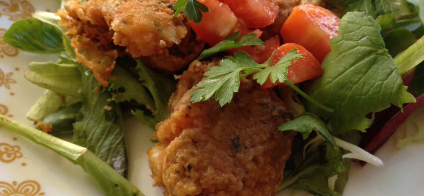 Home Cooking with Marcus Samuelsson & His Spicy Shrimp Falafel