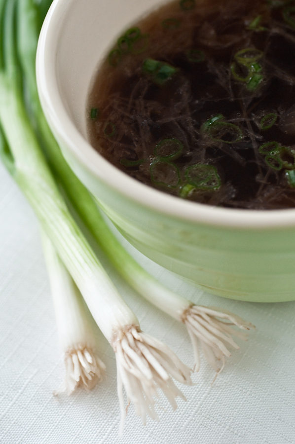 Faux Onion Soup with SPRING! Onions