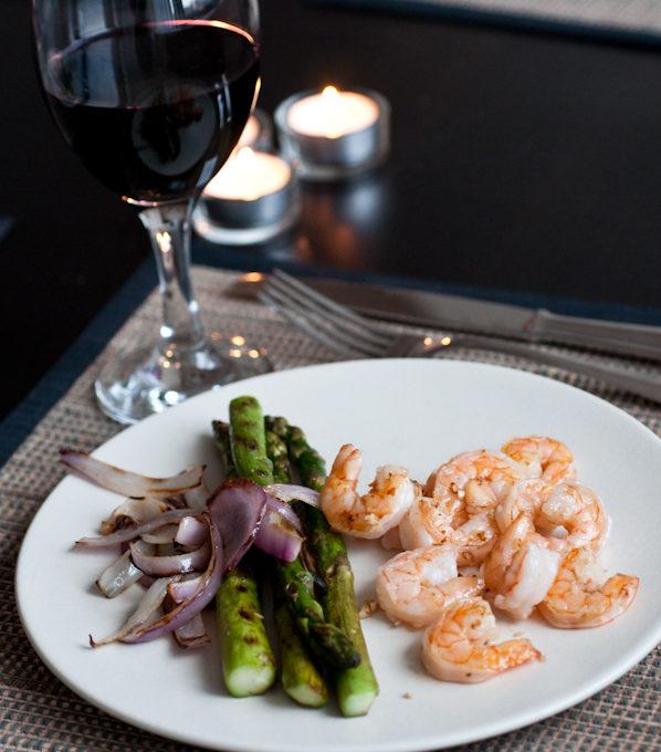 Shrimp + Asparagus = Healthy & Healthier!