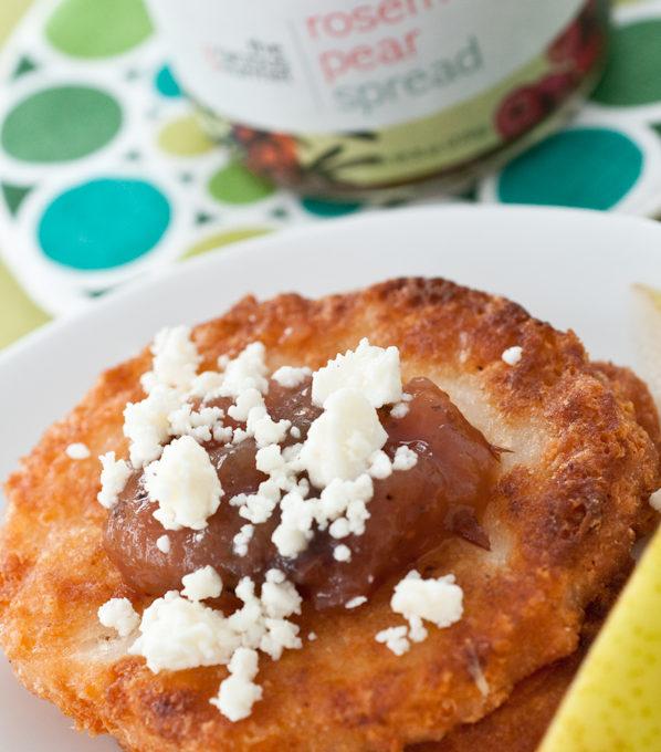 Arepas with Gracious Gourmet Rosemary Pear Spread