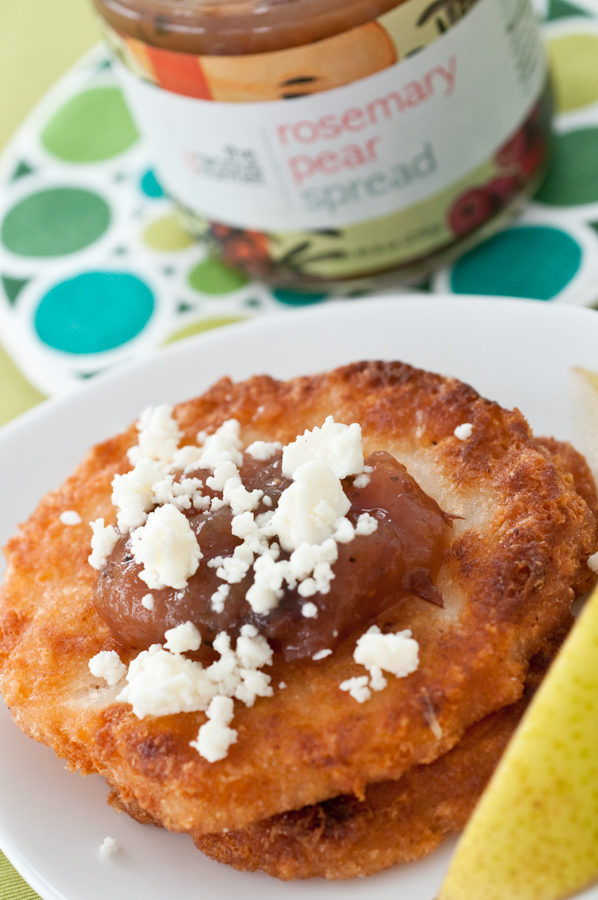 Arepas with Gracious Gourmet Rosemary Pear Spread