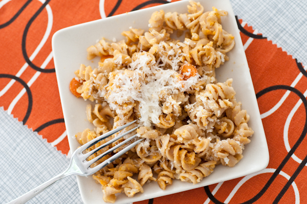 Roasted Sweet Potato Pasta Bake