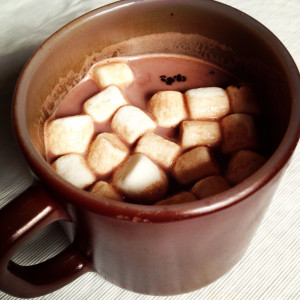 Voila! Hot cocoa!