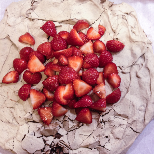 Chocolo-Chocolate Chip Pavlova