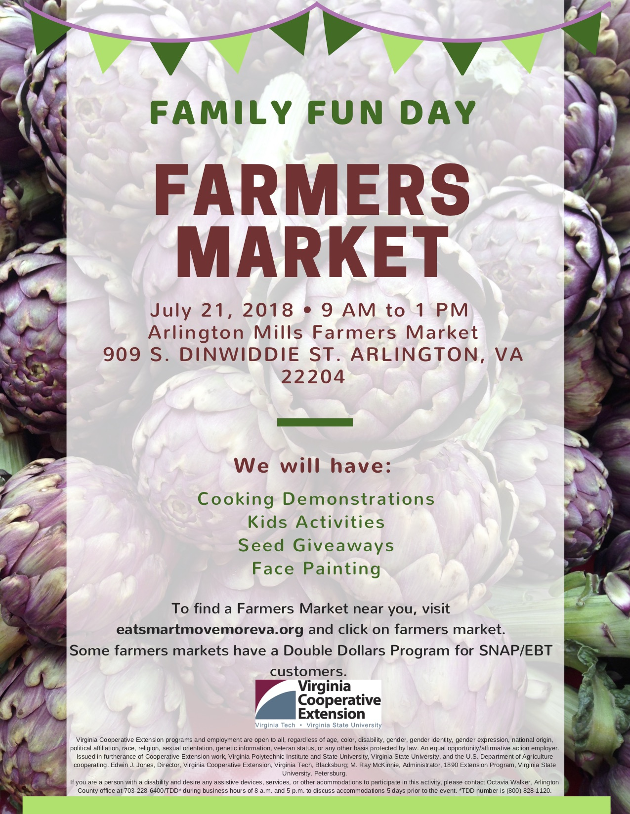 Save The Date July 21 Is Family Fun Day At Arlington Mill