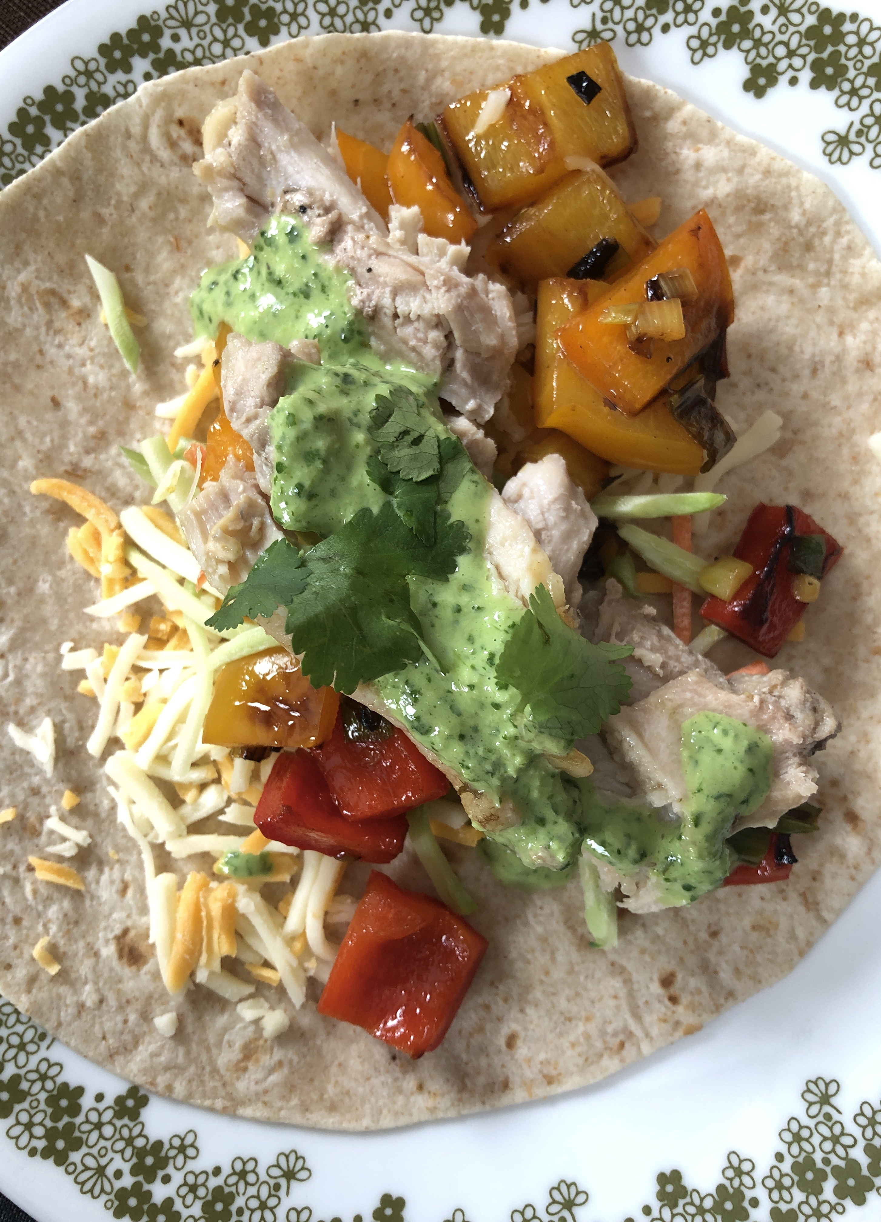 Rainbow Tacos with Cilantro Lime Salsa